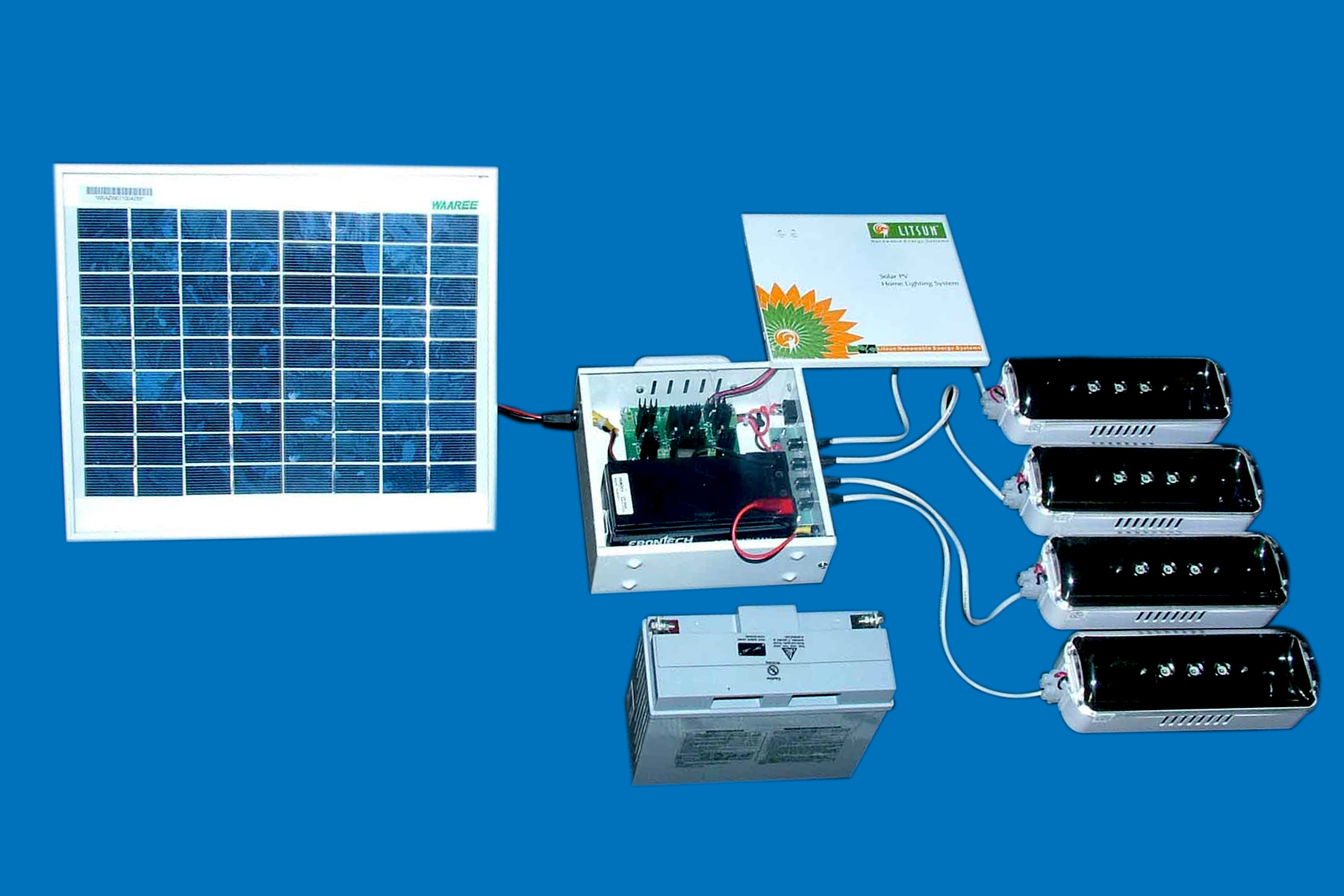 Litsun Renewable Energy Systems Charger Further Off Grid Solar Power System Also Street Light Circuit Home Lighting